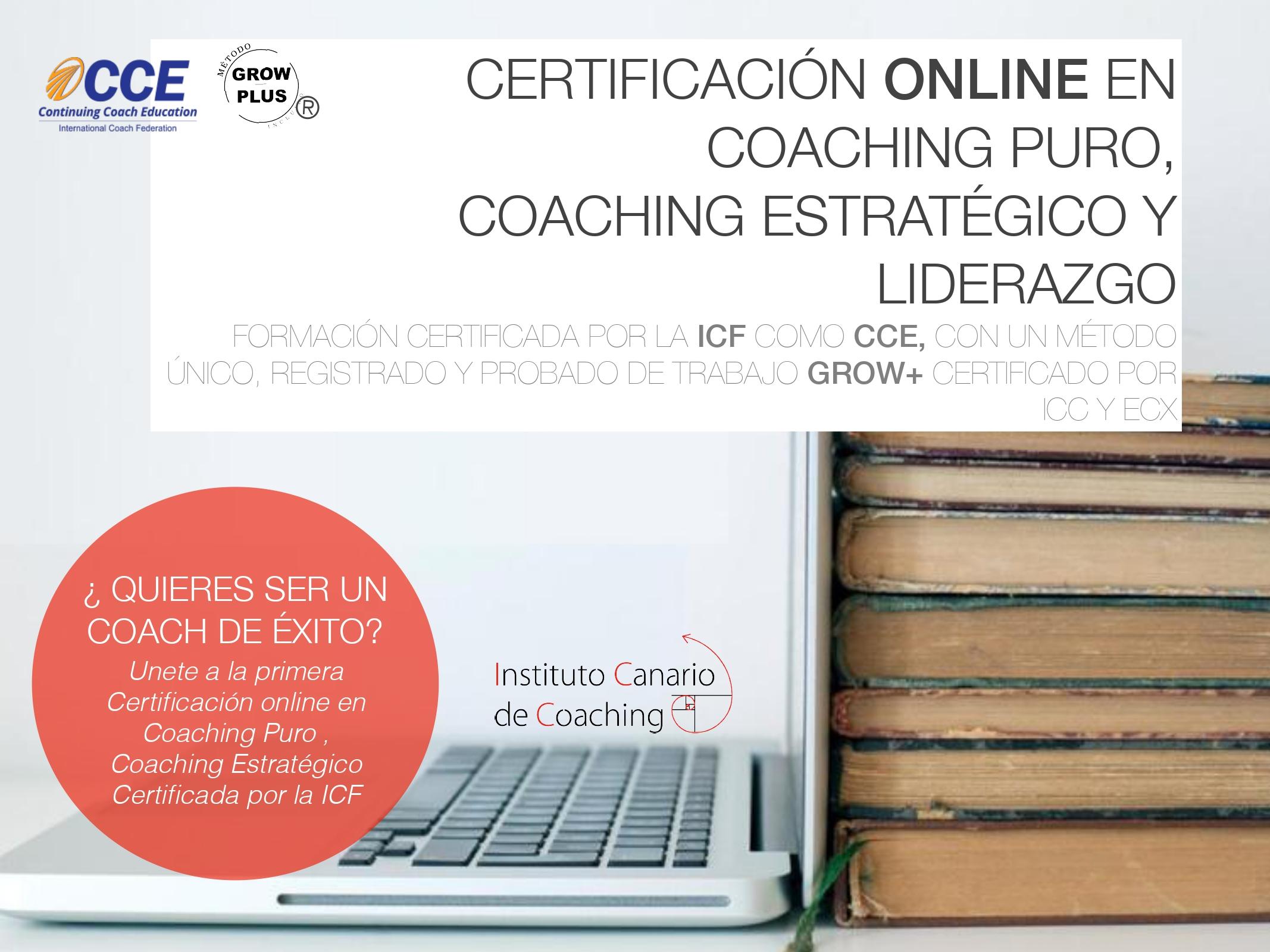 Certificación Internacional Online en Coaching Puro Coaching Estratégico y Liderazgo 3 plazos de 700€